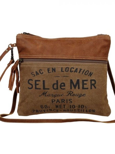 """""""MYRA BAG"""" FRENCH TOAST SMALL AND CROSS BODY"""