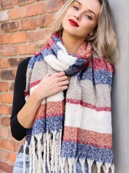 MULTI COLOR MARLED SCARF