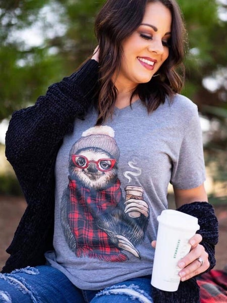 """""""GERDY THE SOLTH BUFFALO PLAID"""" - GRAPHIC T"""