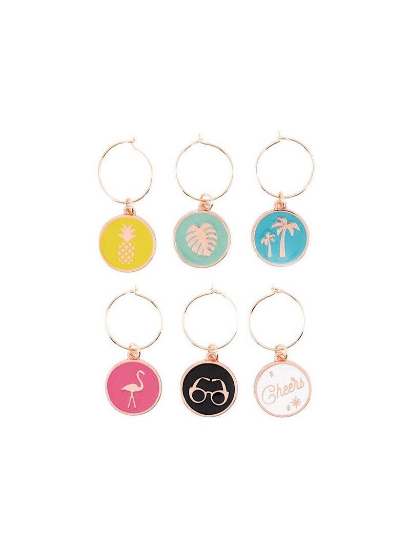 PALM SPRINGS WINE CHARMS (SET OF 6)