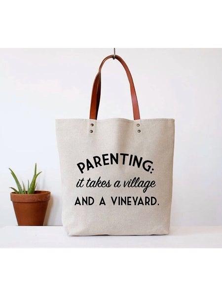 """PARENTING"" CANVAS TOTE BAG"