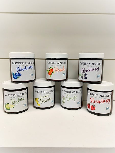 FARMER'S MARKET / UNIQUE OUTFITTERS CANDLE - ASSORTED SCENTS