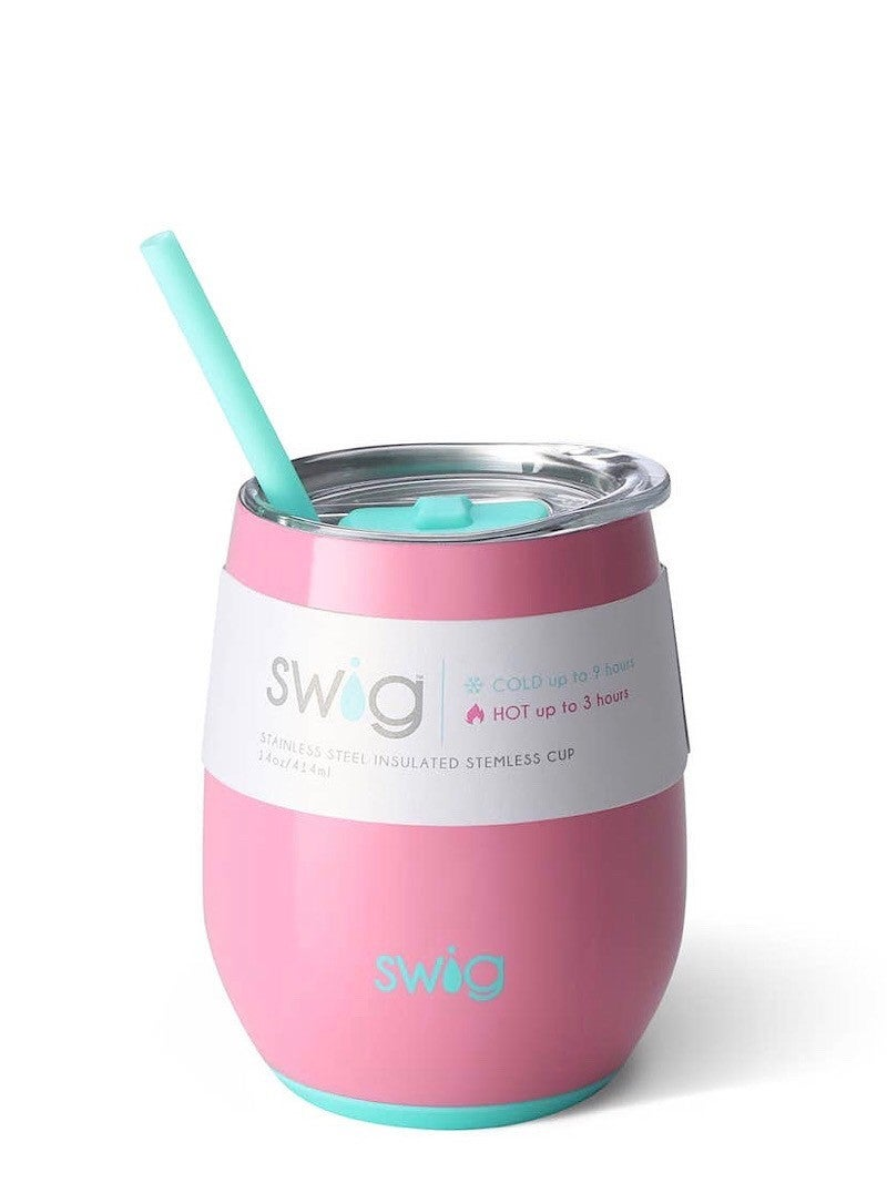 """""""SWIG LIFE"""" - SIGNATURE """"SOLID"""" STEMLESS 14 OZ CUP"""