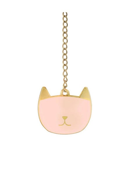 CHARMED PINK CAT CHARM AND TEA BALL SET