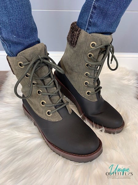 BLOWFISH - RUBBER OUTSOLE LACE-UP BOOT *Final Sale*