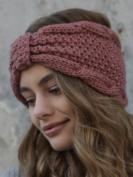 KNIT HEAD BAND WITH BOW