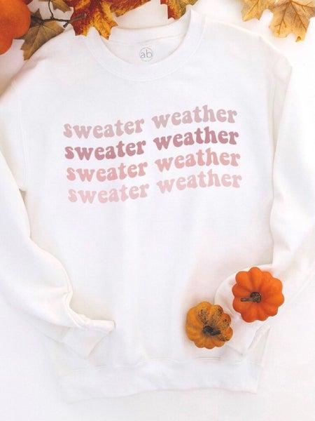 """""""SWEATER WEATHER"""" SWEAT SHIRT"""
