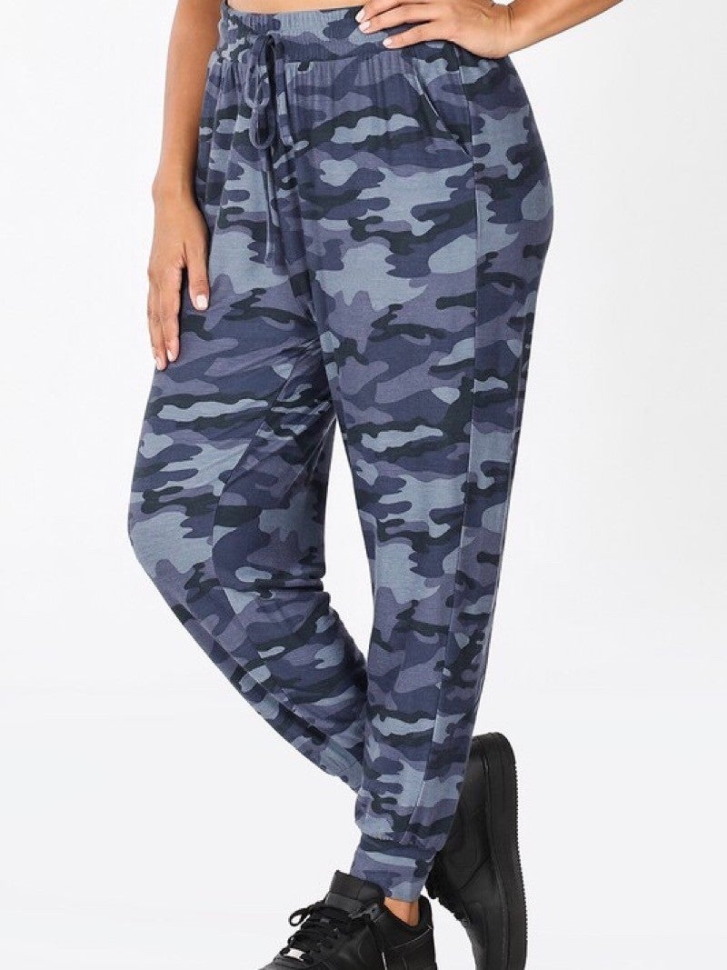 FRENCH TERRY CAMO PRINTED JOGGER