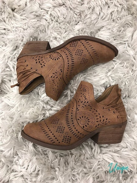 LASERCUT SLIP ON BOOTIE *Final Sale*
