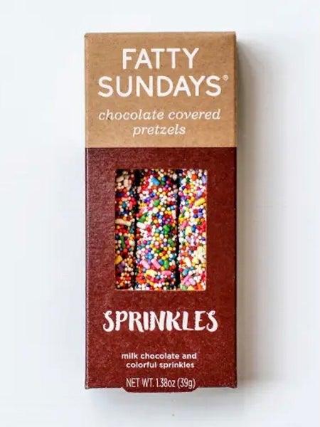 """FATTY SUNDAYS""- CHOCOLATE COVERED PRETZELS"