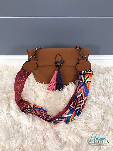 VEGAN LEATHER CROSSBODY BAGS W/ TASSEL *Final Sale*