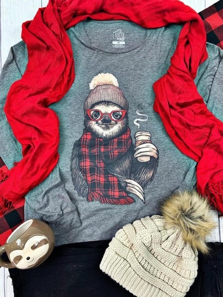 """""""GERDY THE SOLTH BUFFALO PLAID"""" - LONG SLEEVE GRAPHIC T"""