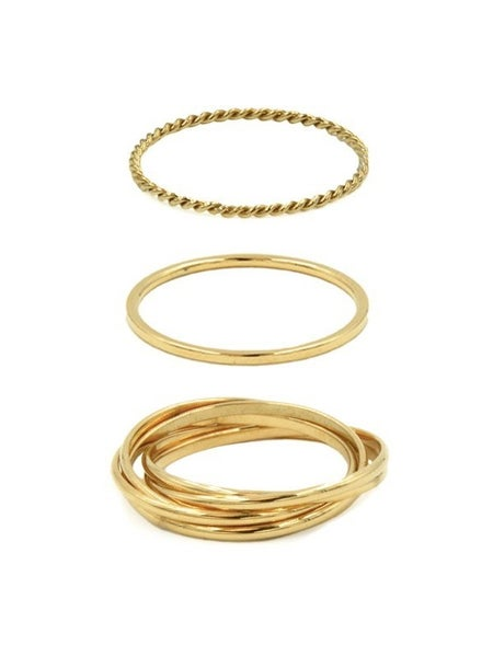 """KINSLEY ARMELLE"" GOLD RING SET"