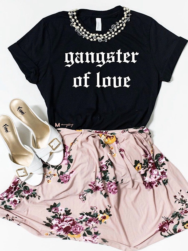 """""""GANGSTER OF LOVE"""" FUNNY VALENTINE'S GAPHIC TEE *Final Sale*"""