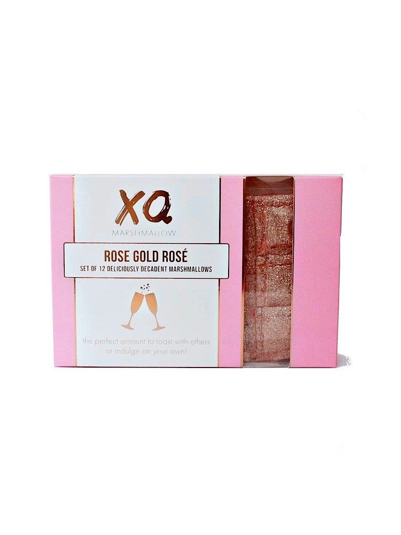 """ROSE GOLD ROSÉ MARSHMALLOW SQUARES (12 PACK) BY """"XO MARSHMELLOW"""""""
