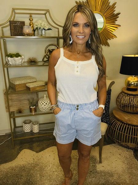 Daisy Blue Denim Shorts--Summer Sale *Final Sale*