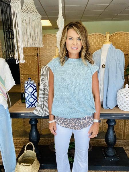 Sale !! The Haley sweater in aqua *Final Sale*
