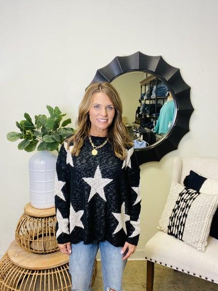 LAST ONE !! The Katie star sweater in black *Final Sale*