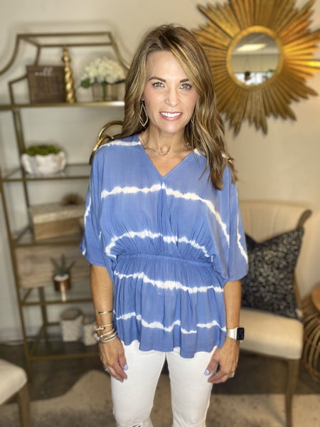 LAST ONE SALE !! The Sands top in blue *Final Sale*