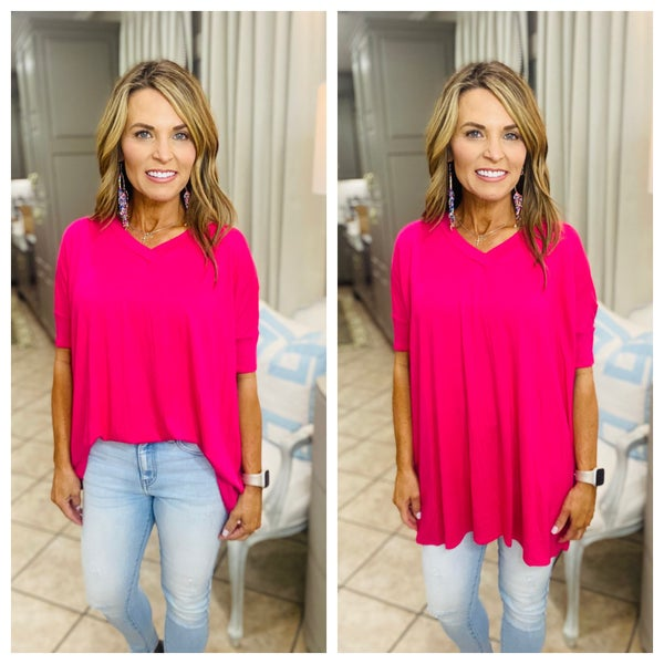 The Runway tunic in hot pink