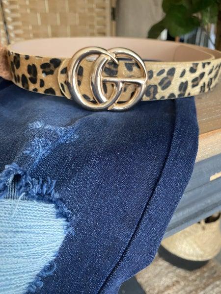 Cheetah animal print belt