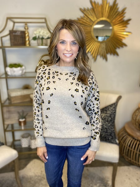 LAST ONE SALE !! The Maggie faded animal print sweater *Final Sale*