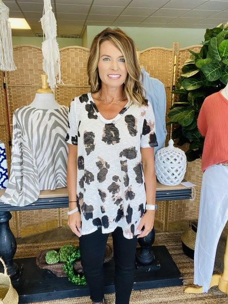 LABOR DAY SALE ! The Megan in white & black animal print *Final Sale*