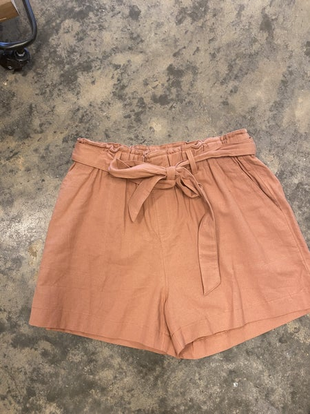 STOCKROOM CLEAN OUT! Rust belted shorts *Final Sale*