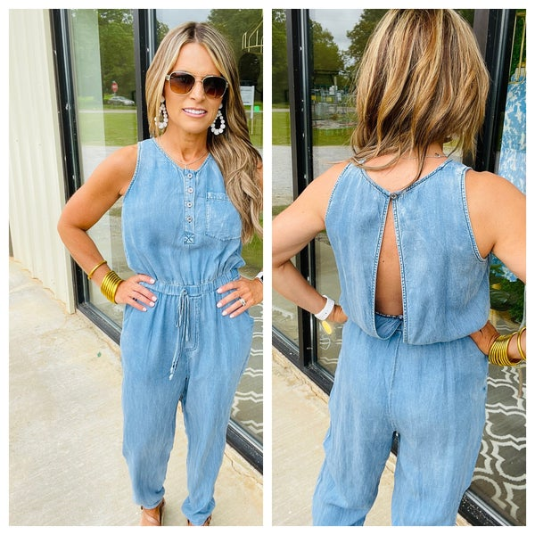 The Dixie jumpsuit in chambray *Final Sale*
