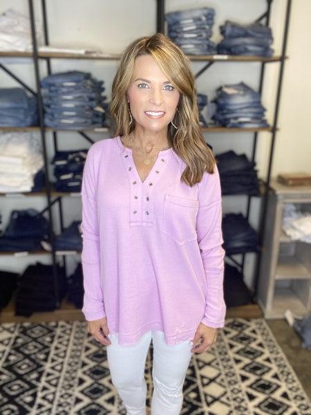 LAST ONE SALE !! Lavender v neck tunic *Final Sale*