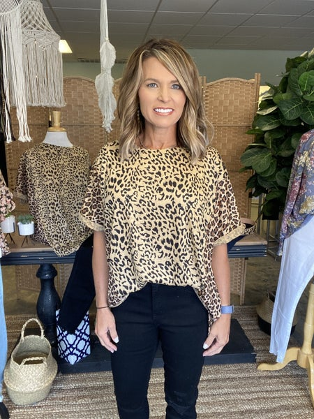 The Nilla in taupe animal print