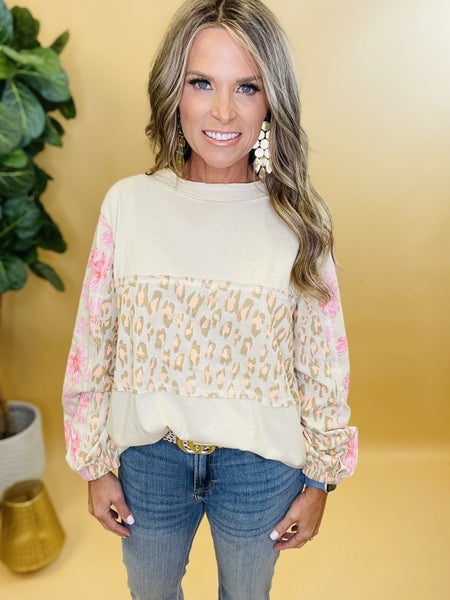 Leopard with A Pop of Pink Top--RESTOCK IS HERE !!