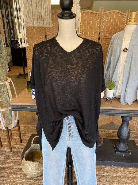 Summer sale! Black v neck tunic *Final Sale*