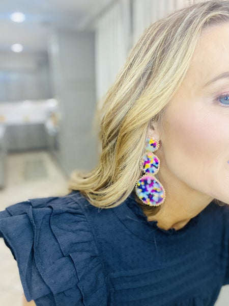 Triple Bead earrings