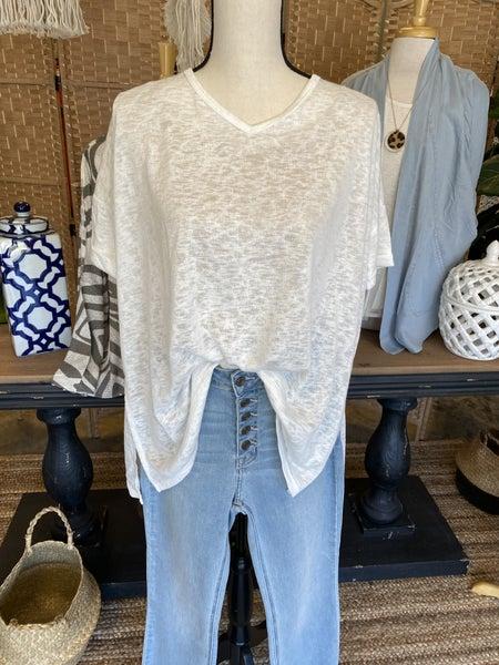 Summer sale ! White v neck tunic