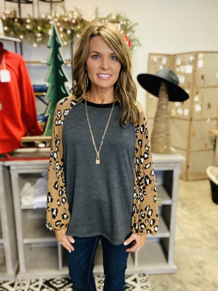 Last one !! The Miller in camel and charcoal animal print *Final Sale*