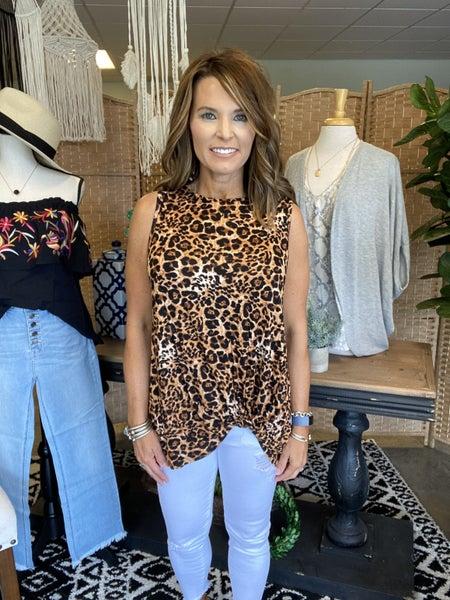 SUMMER SALE !! Cheetah tuck tank *Final Sale*