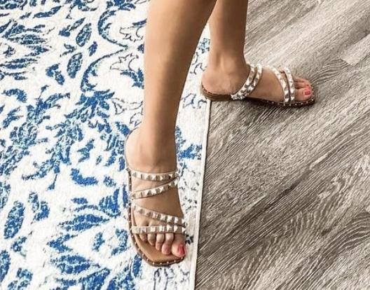 MADISON TAUPE CROSSOVER SANDALS--Summer Sale *Final Sale*