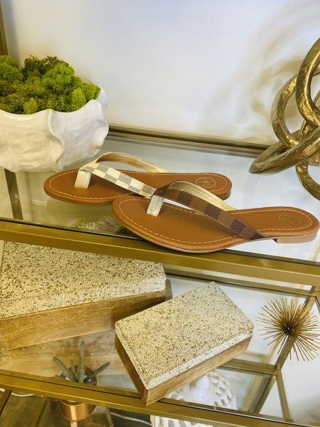 Take A Walk LV Flip Flops---Summer Sale *Final Sale*