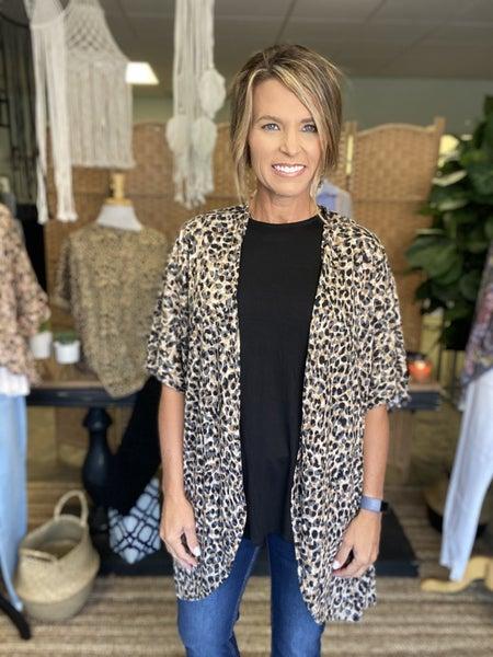 Last one sale !!! Cheetah cardigan *Final Sale*