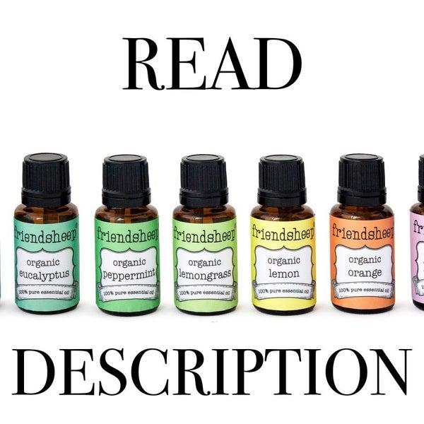 Friendsheep Organic Essential Oil 15mL - Read Description