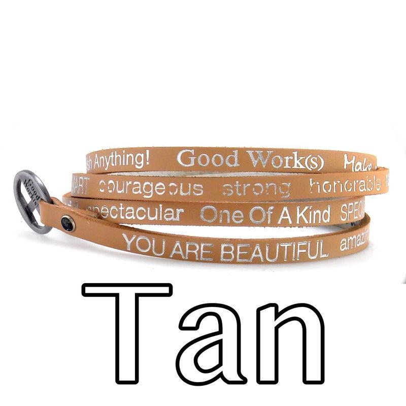 Good Works Positive Affirmation Wraparound Bracelet