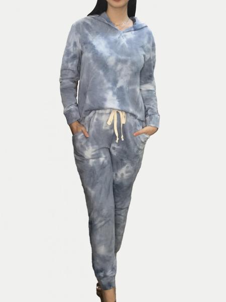 Long Sleeve Hoodie + Jogger Sky Tie Dye Lounge Set