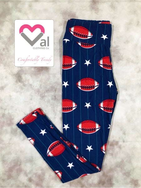 Footballs and Stars Leggings!