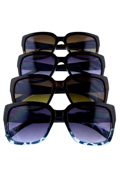 Square Sunglasses with Side Quilt Detail