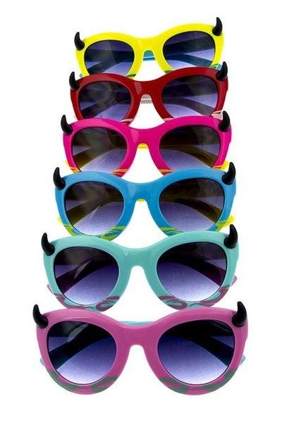 Kids Solid Monster Horn Sunglasses