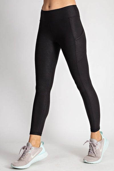 Pebble Printed Active Leggings with Side Pockets