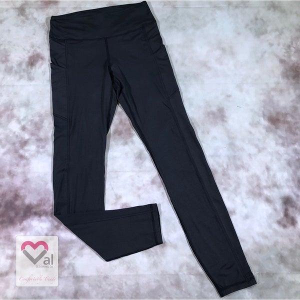 Solid Charcoal Pocket Leggings