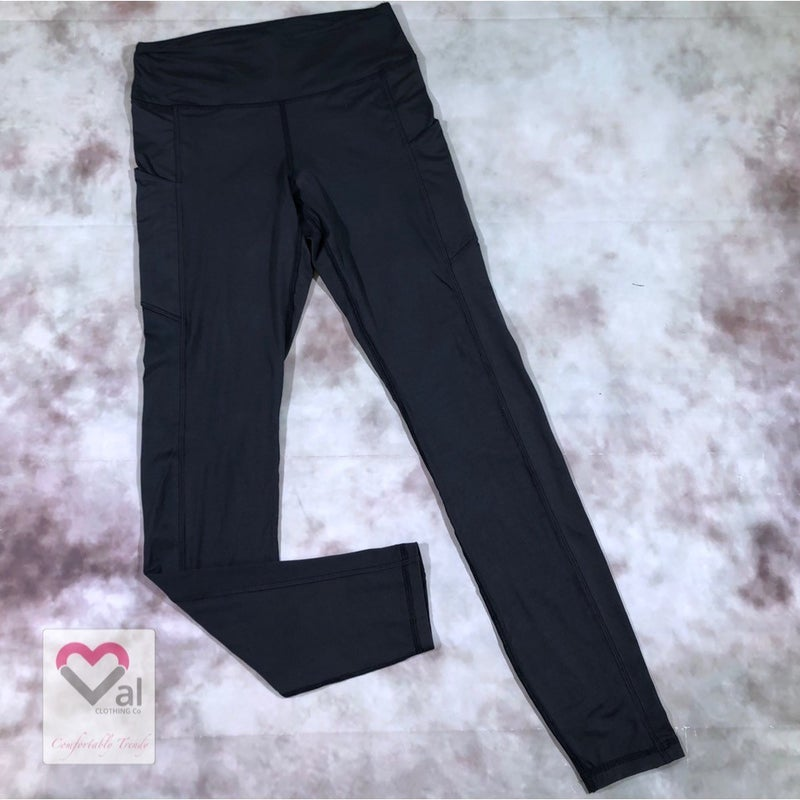Solid Charcoal Pocket Leggings
