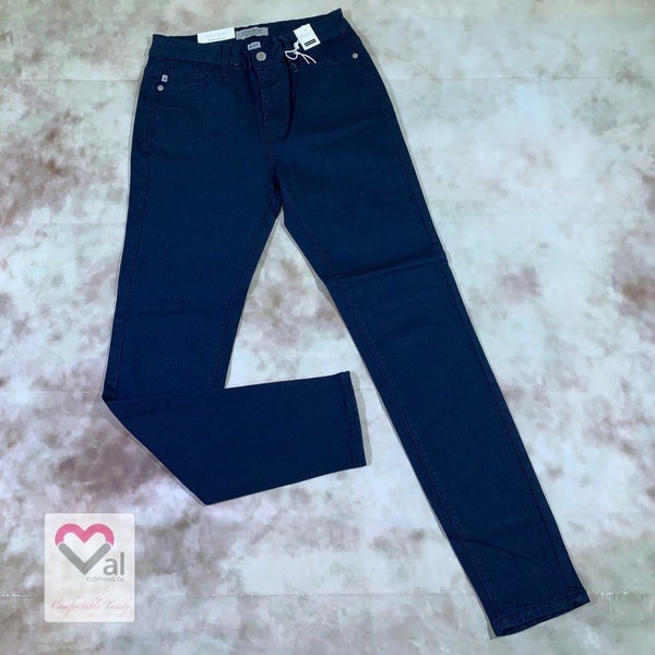 Judy Blue High Waist Solid Navy Skinny Jeans